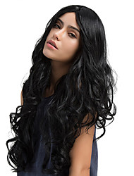 New Style Midsplit Bangs Natural Long Curly Hair Synthetic Wigs