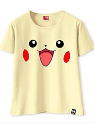 Inspirado por Pocket Little Monster PIKA PIKA Vídeo Jogo Fantasias de Cosplay Cosplay T-shirt Cor Única Camiseta