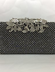 Bags Metal Evening Bag with for Gold Black Silver