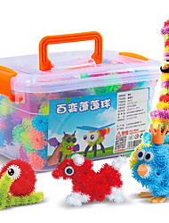 cheap -Toy Cars Building Blocks 3D Puzzles Balls Educational Toy 400 pcs DIY Doll Square Sphere Eyes Heart Unisex Gift