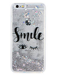 cheap -Case for Apple iPhone7 7 Plus Cartoon Glitter Shine Word Phrase Flowing Liquid Pattern Soft TPU  6s Plus  6 Plus 6s 6