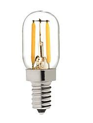Недорогие -KWB 1шт 2 W LED лампы накаливания 200 lm E14 T 2 Светодиодные бусины COB Декоративная Тёплый белый