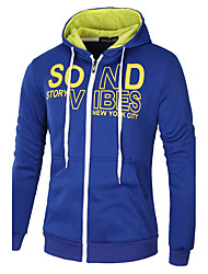 cheap -Men's Daily Solid Round Neck Hoodie Long, Long Sleeves Spring, Fall, Winter, Summer Cotton