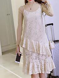 Chemisier Robes Costumes Femme,Couleur Pleine Décontracté / Quotidien simple Printemps Manches longues