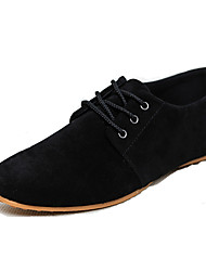 Men's Shoes Suede Spring Summer Comfort Oxfords Lace-up For Casual Outdoor Office & Career Black Brown Blue