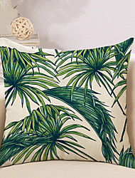 1 Pcs Linen Tropical Plant Printing Pillow Cover 45*45Cm Classic Pillow Case