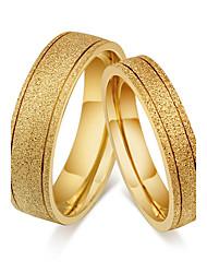 Недорогие -Для пары Кольца для пар Классические кольца Кольцо Классика Винтаж Простой стиль Титановая сталь Круглый Бижутерия Свадьба Для вечеринок