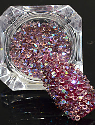 cheap -600pcs/bottle New Fashion Sweet Style Shining Double Head Nail Art Light Amethyst AB Rhinestone Glitter Crystal Rhinestone DIY Beauty Decoration