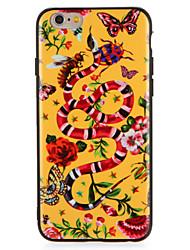 Недорогие -Случай для яблока iphone7 7 плюс цветок бабочки животное шаблон жесткий компьютер для iphone 6s плюс 6 плюс 6s 6
