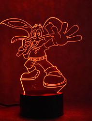 Недорогие -1шт 3D ночной свет Сенсорный 7-Color Работает от USB Сенсорный датчик С портом USB