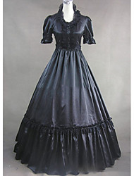 cheap -Medieval Costume Women's Dress Party Costume Masquerade Vintage Cosplay Other Satin Short Sleeves Cap Floor Length