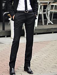 abordables -Hombre Casual Tiro Medio Rígido Ajustado Delgado Empresa Pantalones Primavera, Otoño, Invierno, Verano