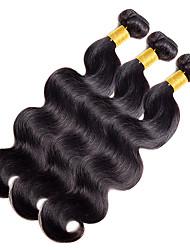 Недорогие -Натуральные волосы Индийские волосы Человека ткет Волосы Естественные кудри Наращивание волос 1 шт. Черный