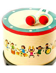 Недорогие -Барабанная установка Игрушечные инструменты Игрушки Цилиндрическая Дерево Куски Детские Подарок