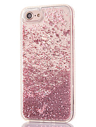 economico -Custodia Per Apple iPhone 8 iPhone 8 Plus Con diamantini Liquido a cascata Transparente Per retro Glitterato Resistente PC per iPhone 8