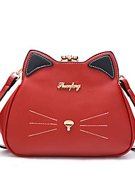 Women Bags PU Shoulder Bag for Wedding Event/Party Casual Sports Formal Outdoor Office & Career All Seasons Black Red