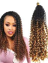 cheap -Freetress curly crochet hair water/curly wave 18inch synthetic twist crochet braids Kanekalon Hair Braids 6packs for a  full head