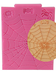 Random Color High Quality Spider Web Halloween Fondant Cake Decorating Tools Sugarcraft Baking Mould Silicone Mold Cupcake Topper