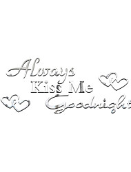 3D Wall Stickers Wall Decals Style Kiss Me Goodnight English Words & Quotes Mirror Wall Stickers