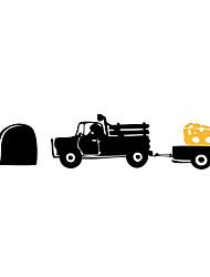 baratos -Animais Desenho Animado Transporte Adesivos de Parede Autocolantes de Aviões para Parede Autocolantes de Parede Decorativos,Vinil Material