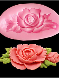 1 Piece Rose Flower Mold For Candy For Cake Silica Gel Baking Tool High Quality