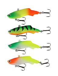 4pcs Soft Lead Fish Fishing Lure 7cm 16.7g Pesca Silicone Artificial Bait Jig Wobblers Rubber Sharp Hook Soft Bait