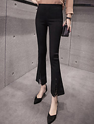 Women's High Rise Stretchy Jeans Pants,Street chic Bootcut Lace Patchwork Solid