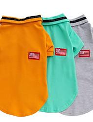 Cane T-shirt Abbigliamento per cani Casual Solidi Arancione Grigio Verde Costume Per animali domestici