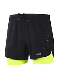 Running Shorts Quick Dry Lightweight Materials Reflective Strips Reduces Chafing Shorts Bottoms for Yoga Camping / Hiking Taekwondo