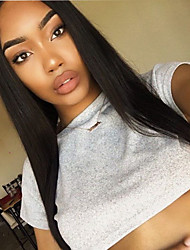 cheap -9A Grade Lace Front Human Hair Wigs Silky Straight Hair 130% Density Brazilian Virgin Hair Glueless Lace Wig for Woman