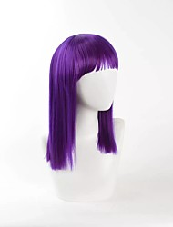 New Dark Purple Cosplay Wigs Straight High Temperature Heat Resistant Popular Style
