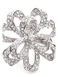 cheap -Women's / Girls' Brooches - Crossover Gold / Silver Brooch For Wedding / Party / Special Occasion