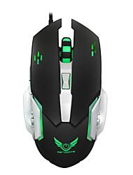 Macro definição jogo mouse 3200dpi rato mouse mecânico mouse usb 6 botão com fio computador óptico mouse gamer pc para laptop