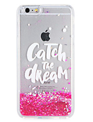 cheap -Case for Apple iPhone7 7 Plus  Glitter Shine Word Phrase Flowing Liquid Pattern Soft TPU  6s Plus  6 Plus 6s 6