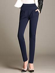 Women's High Rise Harem Pants Elastic Waist Loose Trousers OL Work Wear