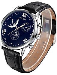 Недорогие -Муж. Модные часы Наручные часы Китайский Кварцевый Повседневные часы Кожа Группа Винтаж Черный Коричневый