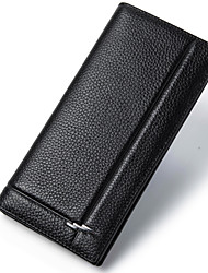 Wallets Men Long High Quality cowhide Men Purse Fashion Male Carteira WalletD6016-1
