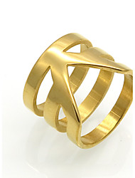 Homens Mulheres Anéis Grossos Maxi anel Anel Circular Original Geométrico Moda Vintage Personalizado Rock Euramerican Dupla camada Aço