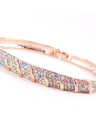 baratos -Mulheres Bracelete - Strass Vintage, Natureza, Fashion Pulseiras Branco / Arco-íris / Rosa claro Para Casamento / Festa / Aniversário