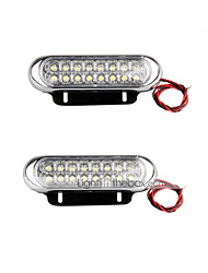 cheap -Waterproof Shockproof Double Rows Rustproof Windproof Decorative Daytime Running Light For All years universal All Models car light