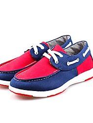 Men's Loafers & Slip-Ons Comfort Light Soles Fabric Spring Fall Office & Career Casual Walking Flat Heel Blue Light Grey Under 1in