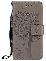 cheap -For  Samsung Galaxy A3 2017 A5 2017 Card Holder Wallet with Stand Flip Embossed Case Full Body Case Cat Tree Hard PU Leather for A710 A310 A510 A5 A3