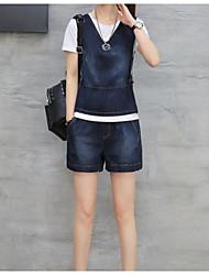 preiswerte -Damen Freizeit Pullover Hose Anzüge,Rundhalsausschnitt Sommer Kurze Ärmel 100% Baumwolle