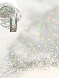 cheap -0 2g bottle fashion gorgeous laser silver nail art glitter holographic fine powder shining decoration diy charm shining pigment jx03