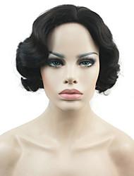 Недорогие -Парики из искусственных волос Волнистый плотность Без шапочки-основы Жен. Коричневый Белый Черный Парик из натуральных волос Короткие