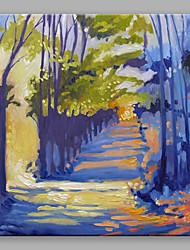 abordables -Pintada a mano Abstracto Cuadrado, Abstracto Lona Pintura al óleo pintada a colgar Decoración hogareña Un Panel