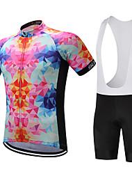 economico -SUREA Maglia con salopette corta da ciclismo Per uomo Bicicletta Set di vestiti Poliestere Coolmax 100% poliestere Silicone LYCRA®
