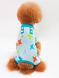 preiswerte -Katze Hund T-shirt Pullover Overall Pyjamas Hosen Hundekleidung Lässig/Alltäglich Sterne Grau Blau Rosa