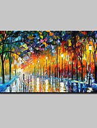 cheap -Hand-Painted Landscape Horizontal, European Style Modern Canvas Oil Painting Home Decoration One Panel