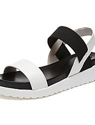 Women's Sandals Comfort  Color Block Simple All Match Spring Summer Casual Dress Comfort Gore Low Heel Sliver Black White